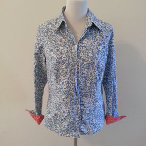 Boden blue and white button down - womens 10